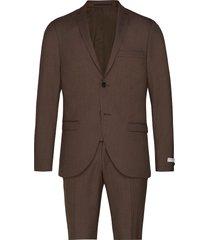 s.jile kostym brun tiger of sweden