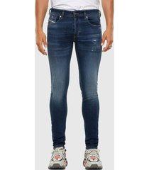 diesel skinny jeans sleenker-x 009dk - denim