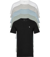anf mens knits t-shirts short-sleeved multi/mönstrad abercrombie & fitch