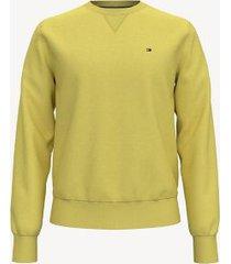 tommy hilfiger men's essential solid crewneck sweatshirt gold - xl