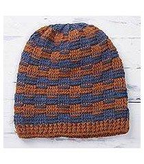 alpaca blend hat, 'elegant mix' (peru)