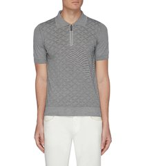 monogram jacquard polo shirt