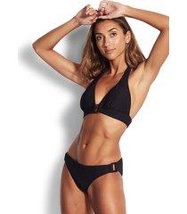 seafolly capri sea halter bikini black