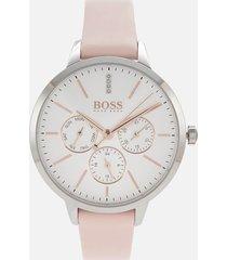 boss hugo boss women's symphony chrono watch - rouge/swh