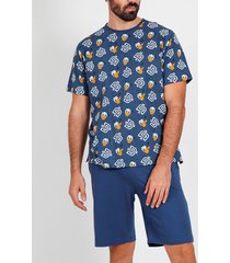 pyjama's / nachthemden admas for men donald duck disney admas korte t-shirt pyjama