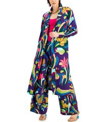 inc printed duster jacket, created for macy's