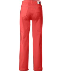 feminine fit broek model nicola van pima cotton van brax feel good rood