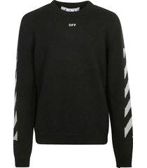 off-white arrow crewneck black high rise sweatshirt