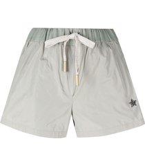 lorena antoniazzi beaded star patch shorts - green