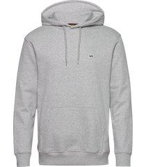 plain hoodie hoodie grå lee jeans