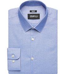 awearness kenneth cole blue crosshatch slim fit dress shirt