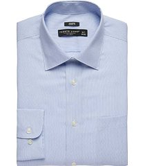 pronto uomo men's blue stripe classic fit dress shirt - size: 15 1/2 32/33 - only available at men's wearhouse