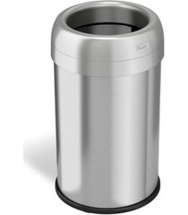 halo dual deodorizer round open top stainless steel trash can 13 gallon