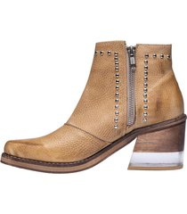 botineta de cuero suela becca shoes tundra
