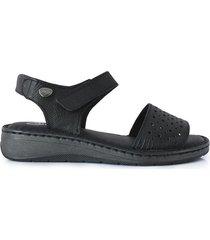 sandalia negra briganti flora