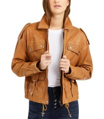 lucky brand relaxed indie leather jacket