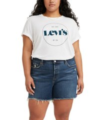 levi's trendy plus size graphic varsity t-shirt