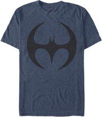 fifth sun dc men's batman round bat logo short sleeve t-shirt