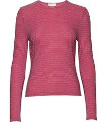 maya, 772 glitter jersey t-shirts & tops long-sleeved roze stine goya