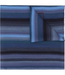 etro striped long scarf - red