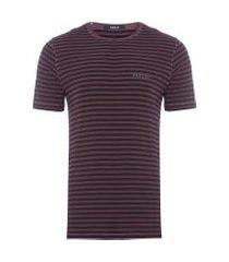 t-shirt masculina listrada - vermelho