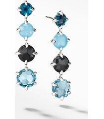 women's david yurman chatelaine drop earrings with blue topaz