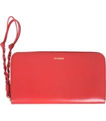 jil sander medium wallet with strap