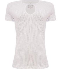 camiseta aleatory mini print feminina - feminino