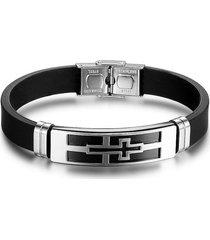 pulsera silicona acero inoxidable ba101593