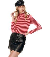 blusa rojo-blanco ambiance