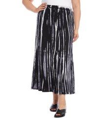 karen kane plus size tie-dyed maxi skirt