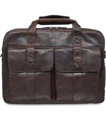 mancini buffalo collection double compartment laptop briefcase