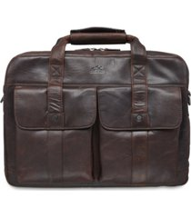 mancini buffalo collection double compartment laptop briefcase