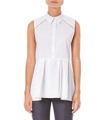 stretch sleeveless peplum shirt