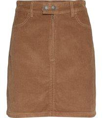 corduroy mocha & zinfandel kort kjol brun hollister