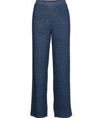 cozy wide pant pyjamasbyxor mjukisbyxor blå missya