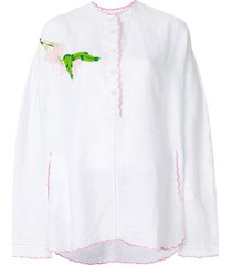 natasha zinko embroidered voile tunic - white