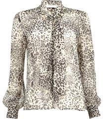 blouse met print manuel  dierenprint