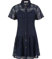 broderie jurk celeste  blauw