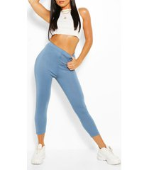 basic cropped jersey legging, navy