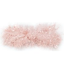 wauw capow molly fluffy headband - pink