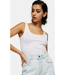 *white ribbed tank by topshop boutique - white