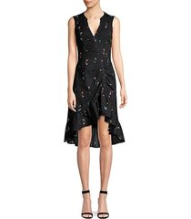 candy ruched floral eyelet dress