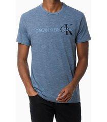 camiseta mc ckj masc calvin klein ck - azul médio - pp