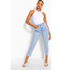 denim skinny jeans in zuur gewassen, lichtblauw