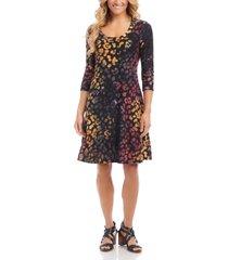 women's karen kane tie dye burnout a-line dress