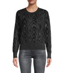 a.l.c. women's roundneck printed sweater - black - size s