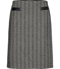skirt short woven fa kort kjol grå gerry weber