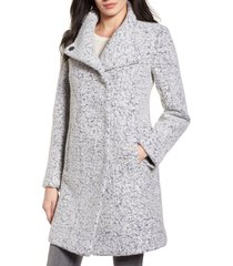 women's kenneth cole new york wool blend boucle coat, size x-large - grey