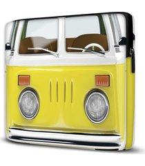 capa para notebook kombi yellow 15.6 a 17 polegadas - amarelo - dafiti